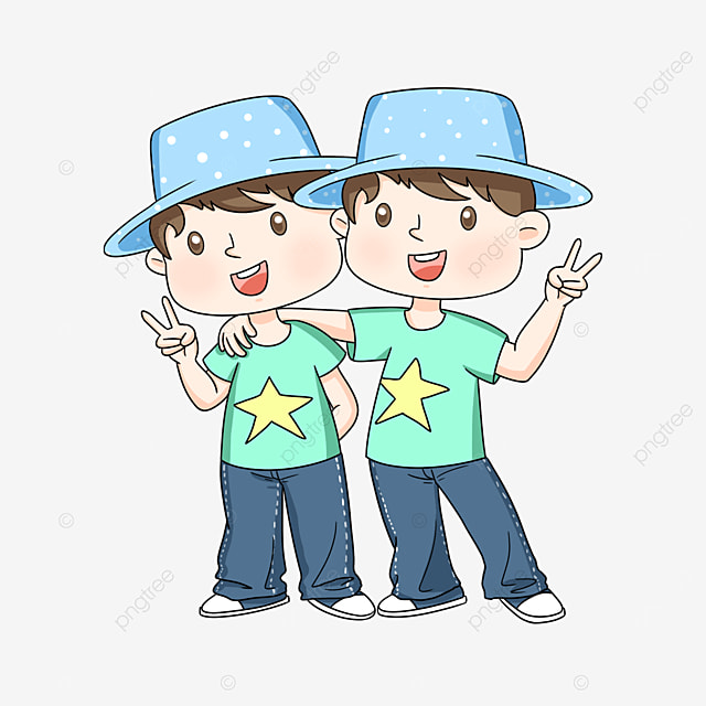 handsome twins clipart