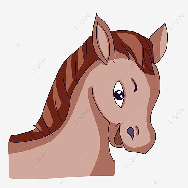 happy horse head clipart