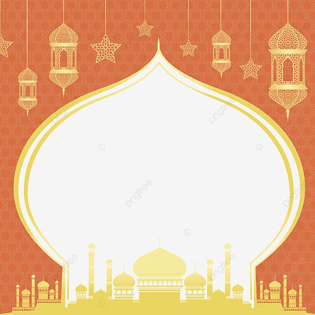 holiday celebration golden eid mubarak exquisite border