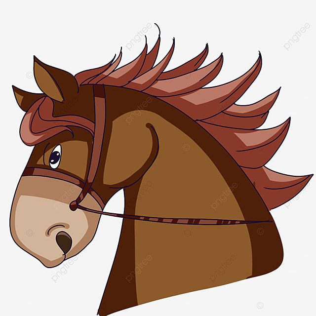 horse head galloping in the sky clipart
