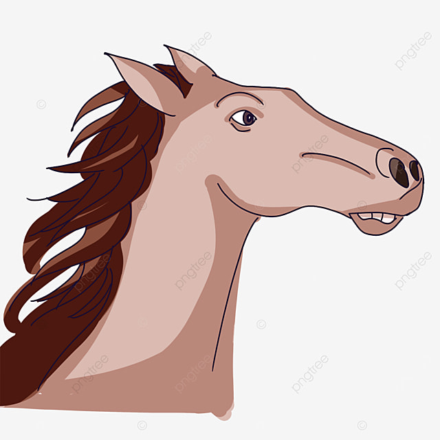 horse head running in the wind clipart
