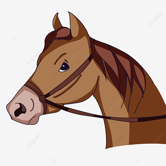 horse head wearing protective gear clipart
