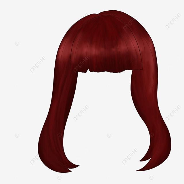 ladies long hair wig clip art