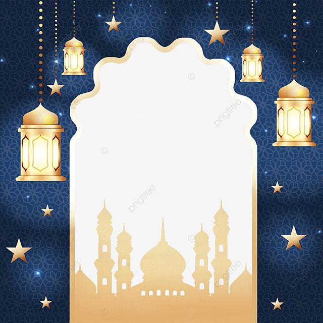 lamp pendant golden eid mubarak exquisite border