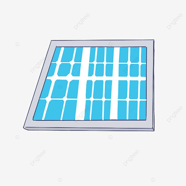 light blue solar panel clip art