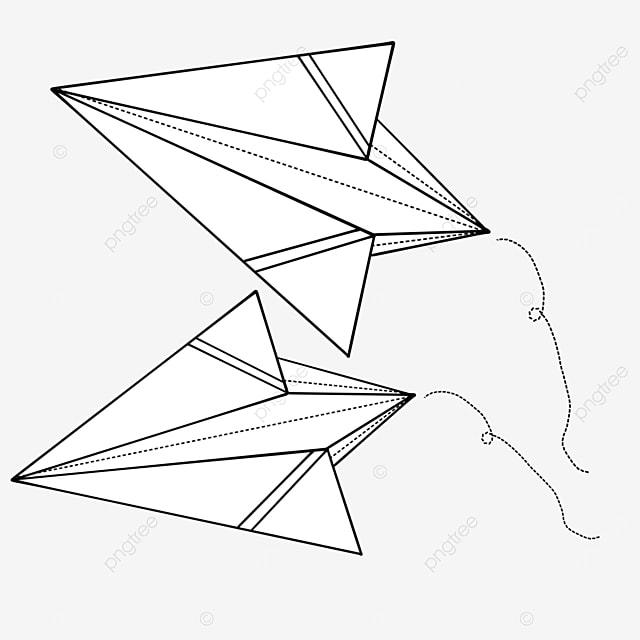 line paper airplane clip art