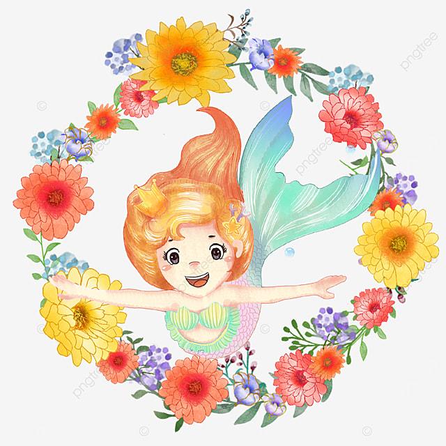 lively mermaid chrysanthemum wreath