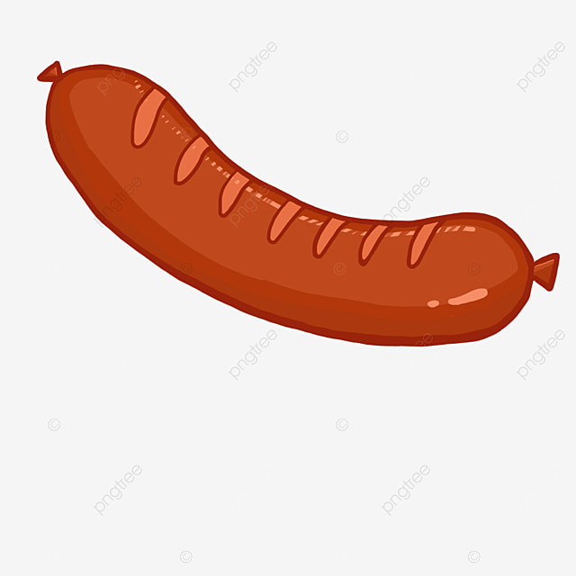 long striped sausage clip art