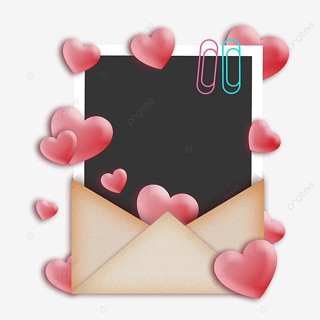 love envelope photo paper border beautiful