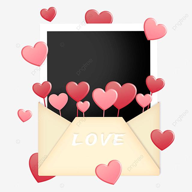 love envelope photo paper border love