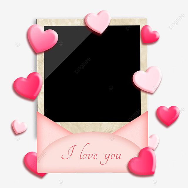 love envelope photo paper border romantic love