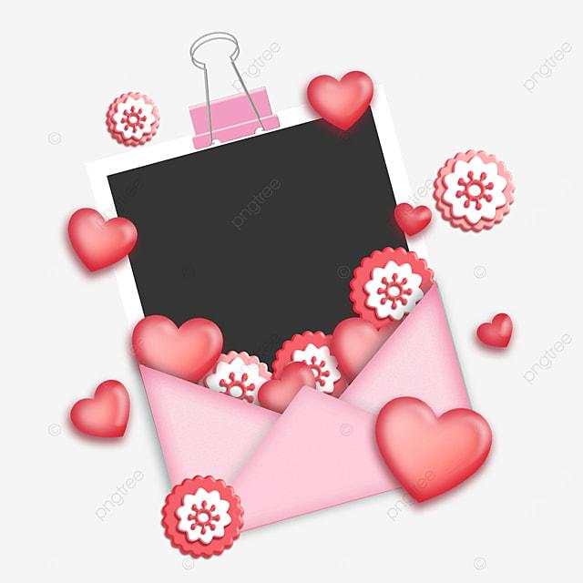 love envelope photo paper border romantic