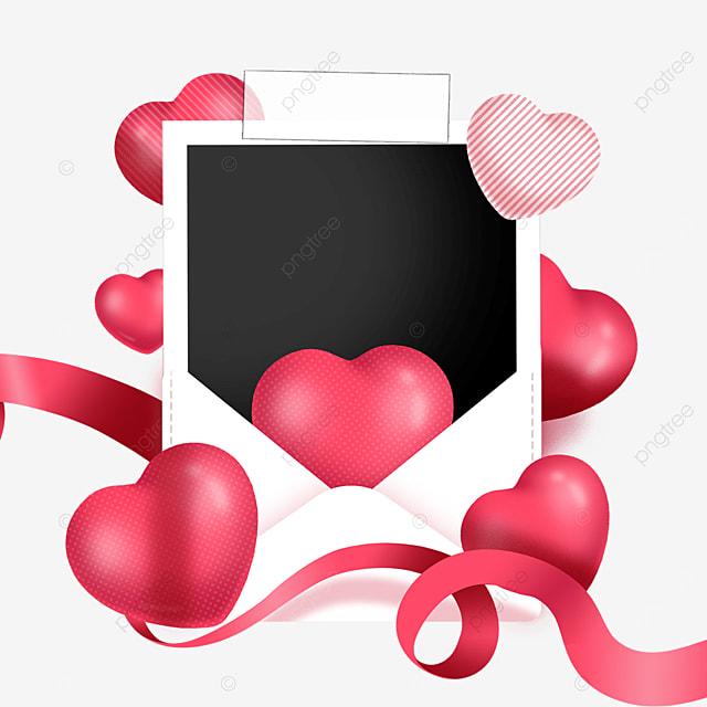 love envelope photo paper border streamer