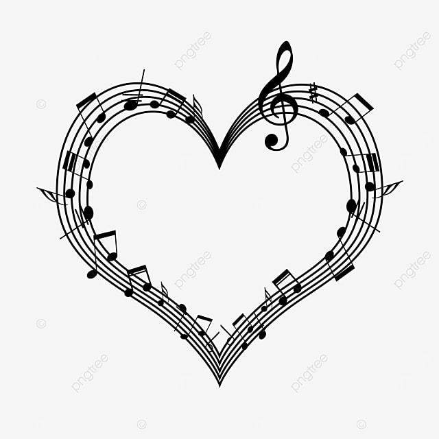 love stave creative music note border