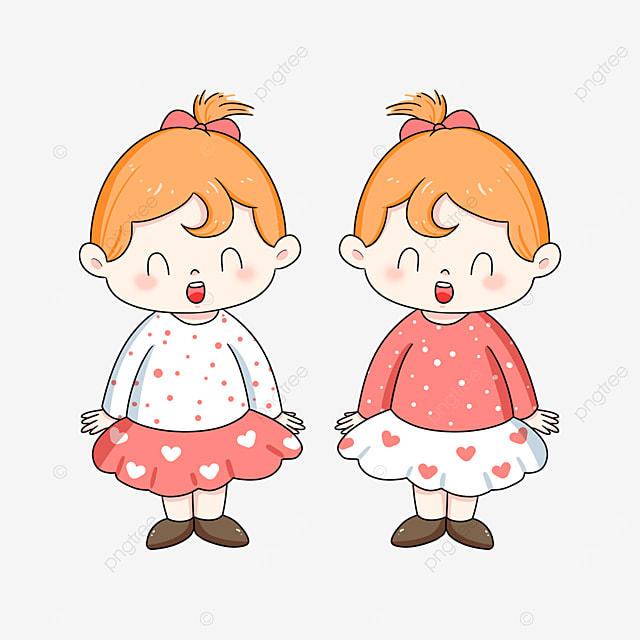 loving twins clipart