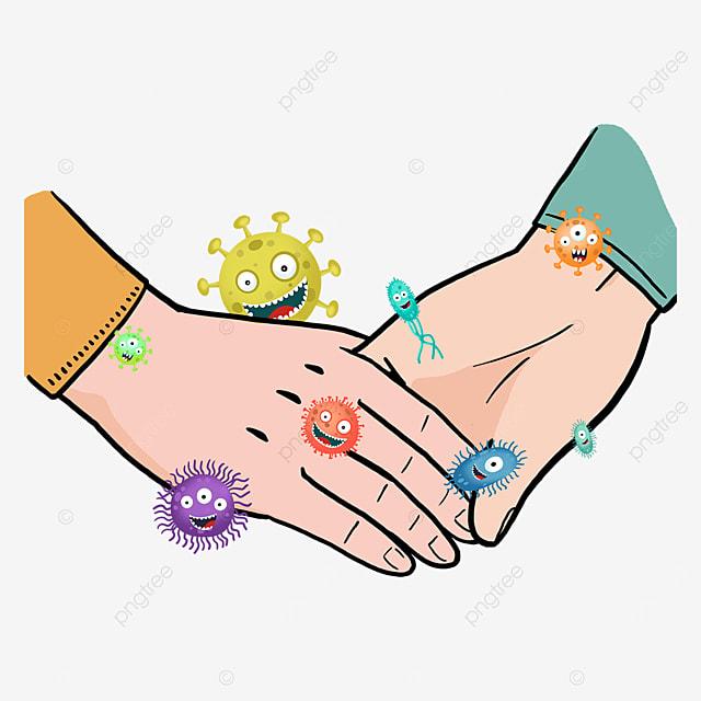 new coronavirus business gesture holding hands
