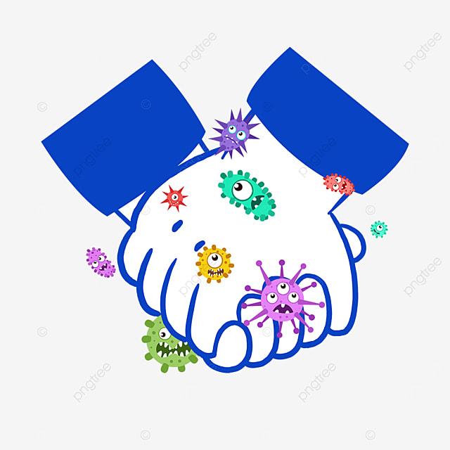 new coronavirus holding hands business gesture