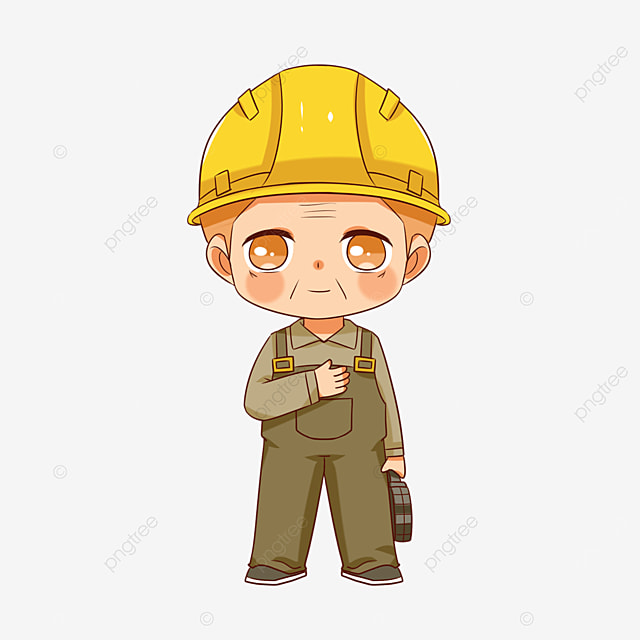old construction worker clipart