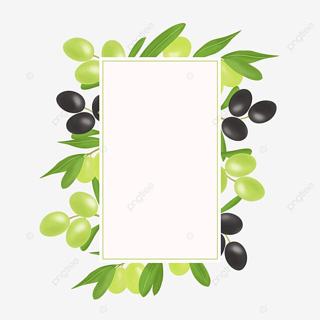 olive green black creative border