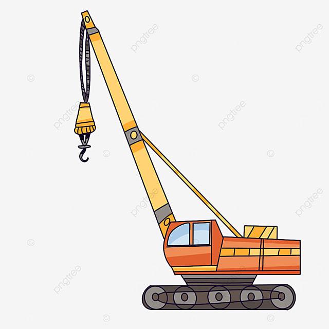 orange crane clip art