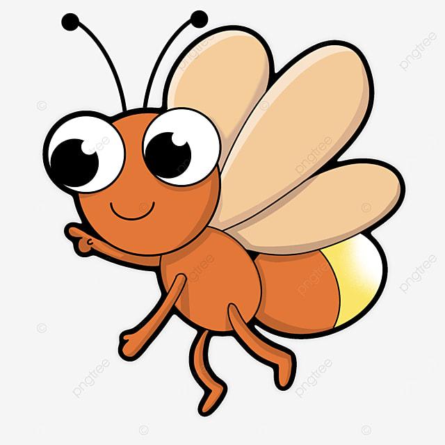 orange firefly clip art