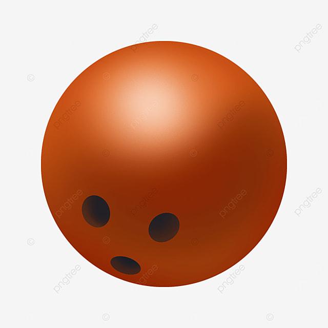 orange gradient bowling clip art
