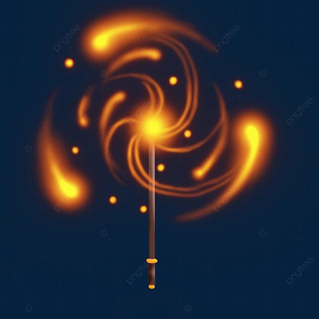 orange red light effect magic wand