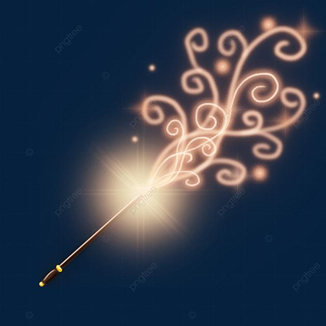orange rotating light effect magic wand