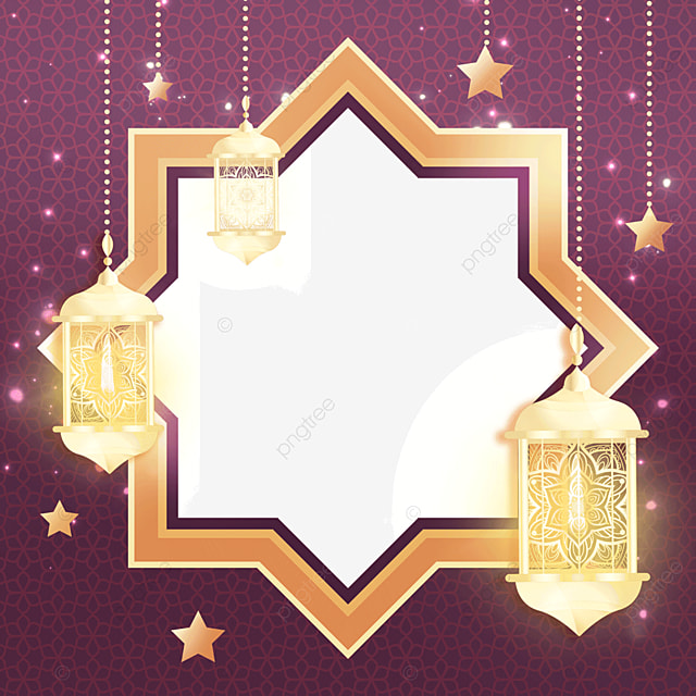 ornate pattern pendant lantern eid mubarak exquisite border