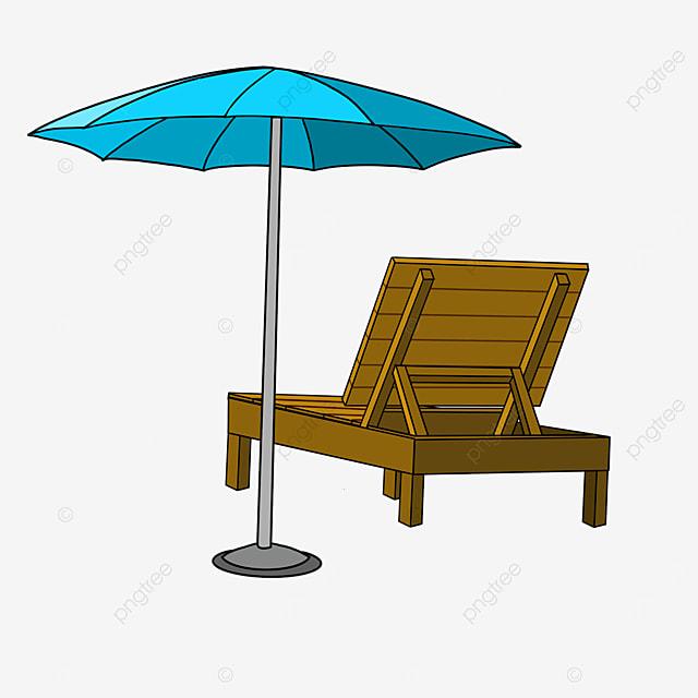 outdoor beach chair clip art