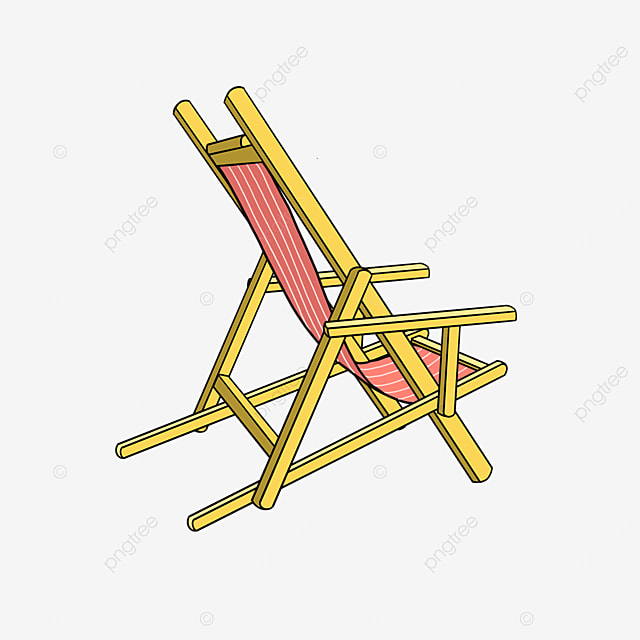 outdoor folding beach chair clipart