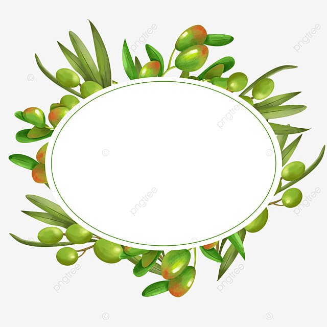 oval creative olive border