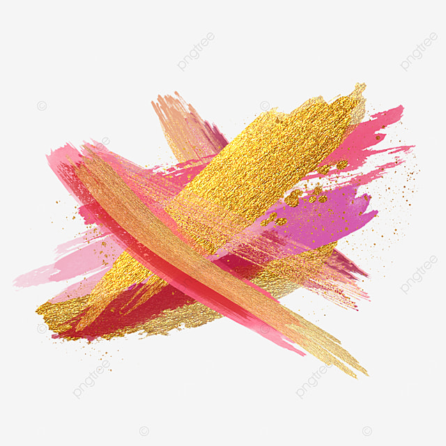 overlay abstract golden pink brush