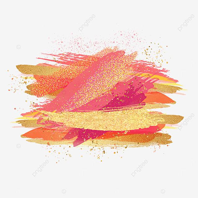 overlay effect golden pink brush