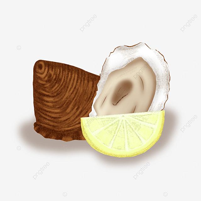 oyster lemon clip art