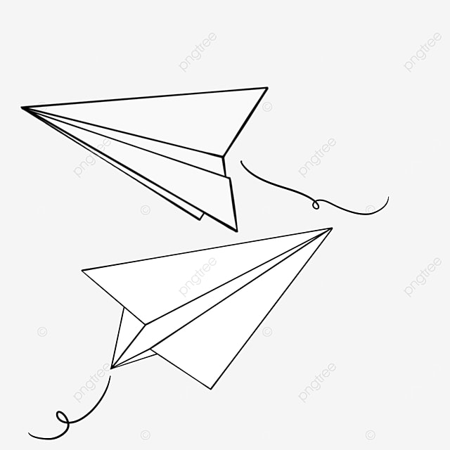 paper airplane flying around clipart