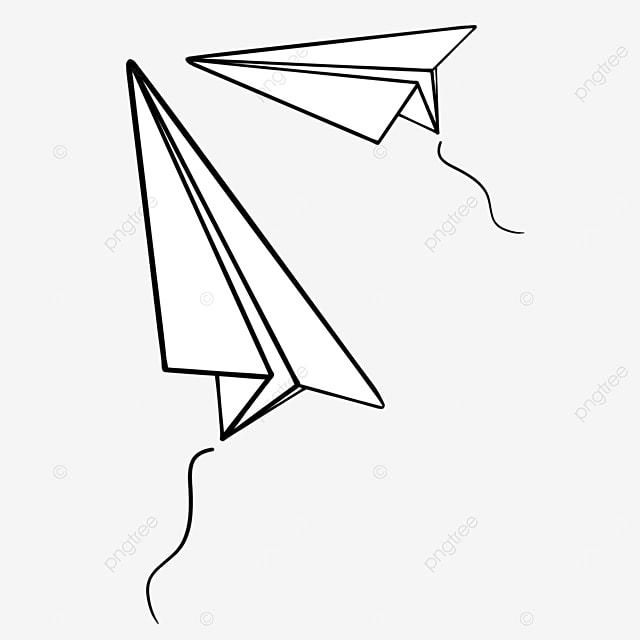 paper airplane flying upward