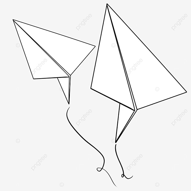 paper airplane standing up and flying clipart