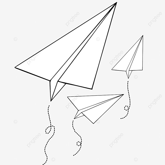 paper airplane turning direction clipart