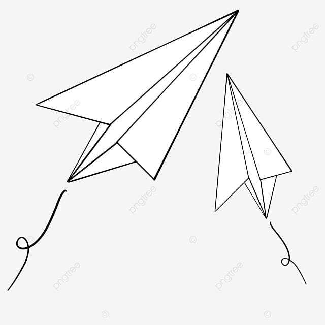 paper airplanes flying in different directions clipart