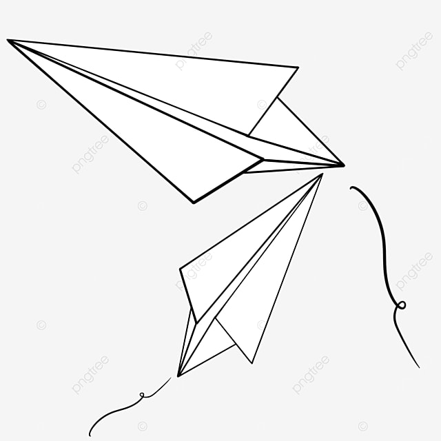 paper plane flying crossed clipart