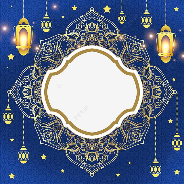 pattern surrounds the beautiful lighting eid al fitr exquisite border