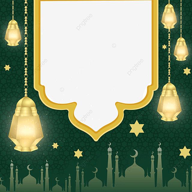 pendant decoration eid mubarak exquisite border