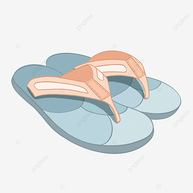 pink blue broadband flip flops clipart