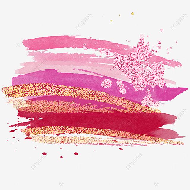 pink grainy golden pink brush