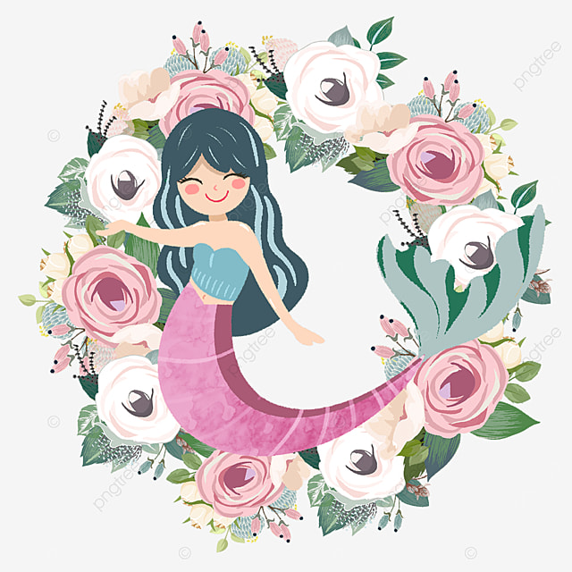 pink mermaid rose wreath