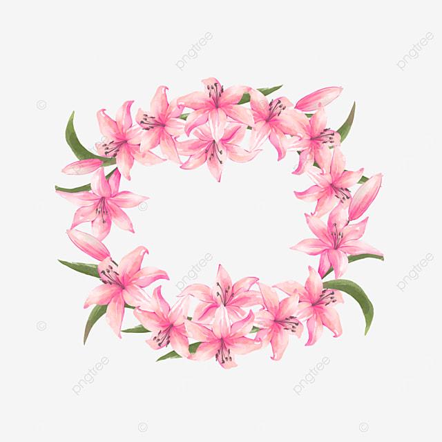 pink round wedding flower border invitation card greeting card