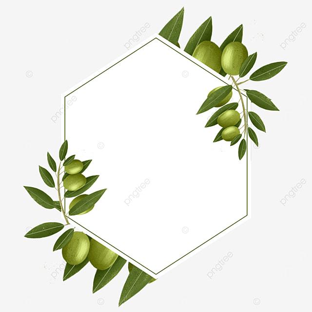 polygonal olive creative border