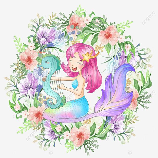 pretty mermaid color wreath