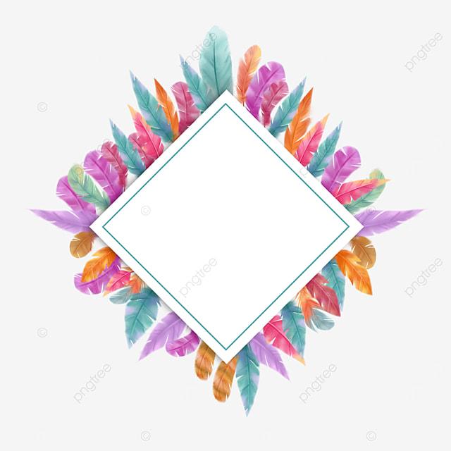 prismatic color feather border